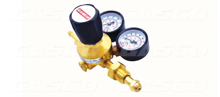 Gas Regulator Single Stage Double Guage